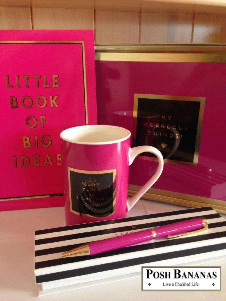 'Big Ideas' Stationery Gift Set - Designer Mug, Storage Tin, Notebook and Pen Desk Set - Gifts For Teachers, Students and Office Workers